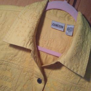 Chico's Embelished Denim Jacket